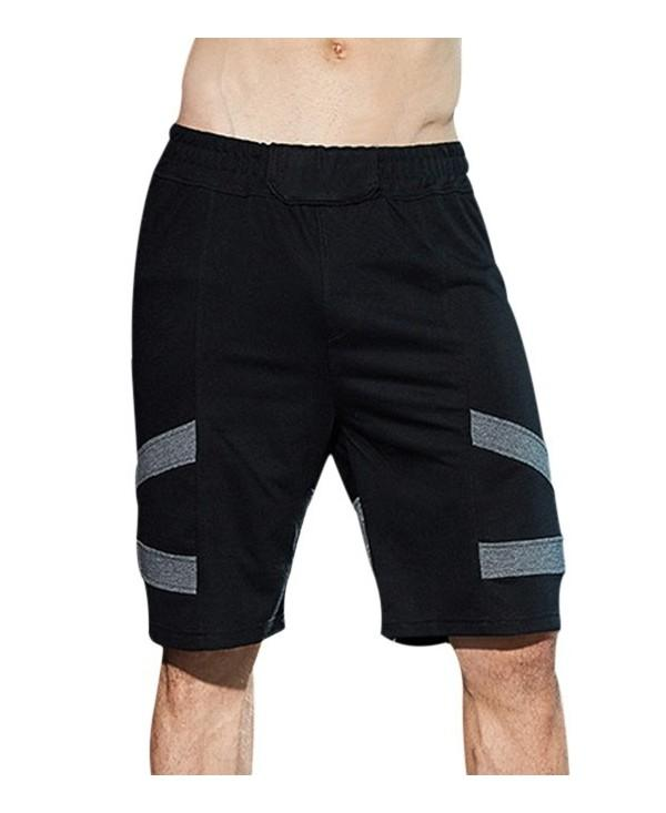 Knee-length Panel Casual Shorts