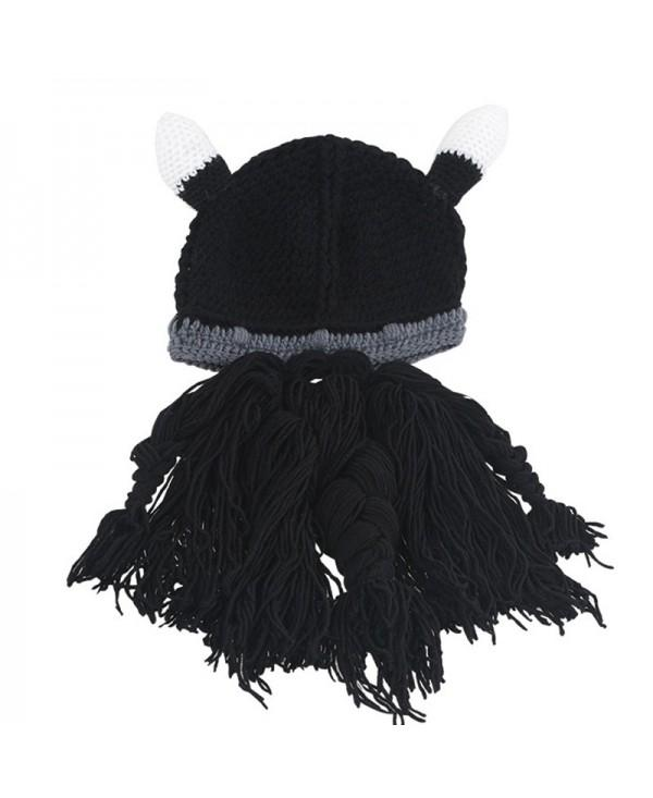 Winter warm and windproof viking beard beanie hat
