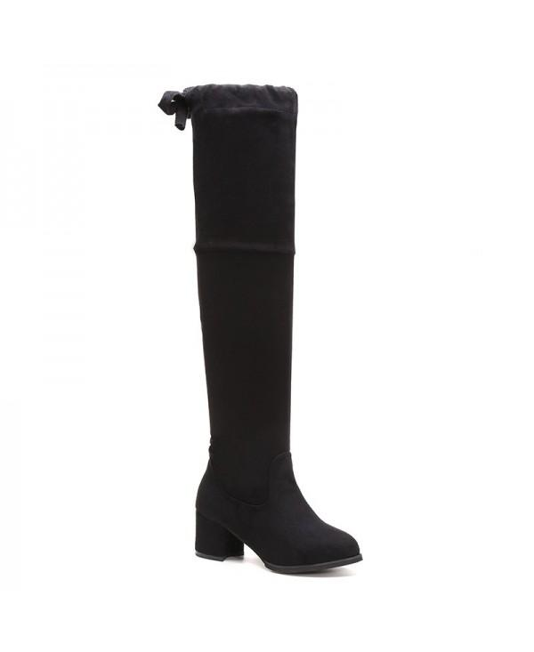 Autumn Winter Boots Velvet Thick Tie Women's Boots