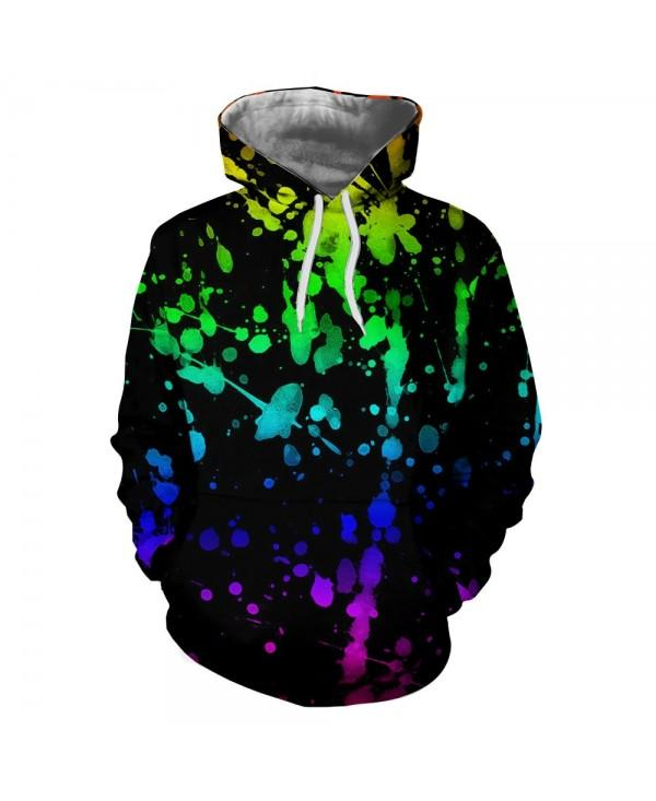 Hot New Digital Printing Snowflake Rain 3D Hoodie