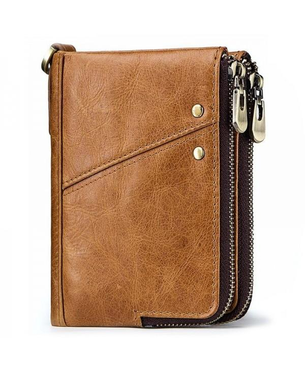 GZCZ Men Multifunctional Wallet Leisure Zipper Anti-theft
