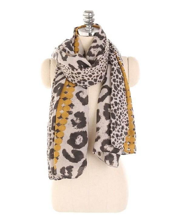 Leopard Print Lightweight Spring Fall Scarf