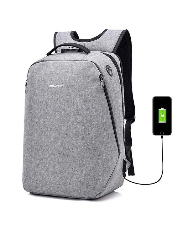 Leisure Anti-theft Lock Laptop Backpack with USB Port for Men