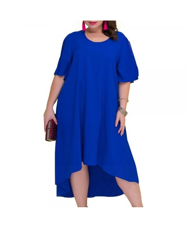 Casual Loose Large Size Summer Irregular Long Dress