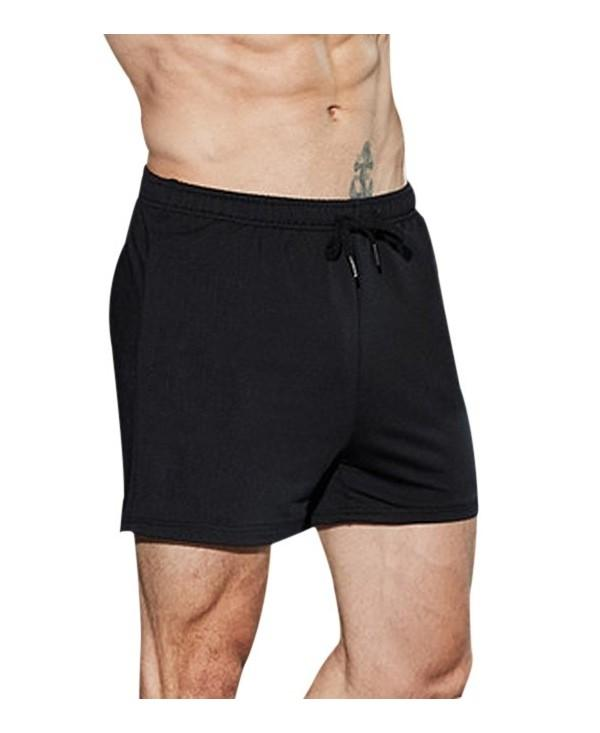Drawstring Elastic Sports Shorts