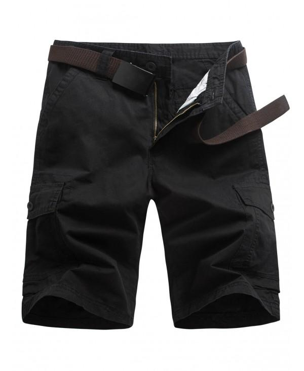 Casual Zipper Fly Flap Pockets Cargo Shorts