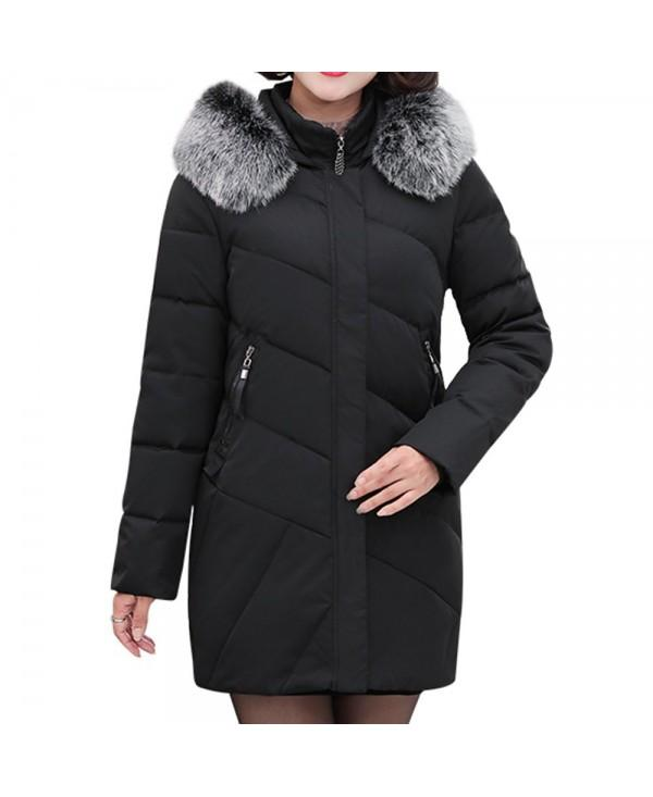 Plus Size Long Winter Jacket Women Hooded Winter Coat Women Loose Parka