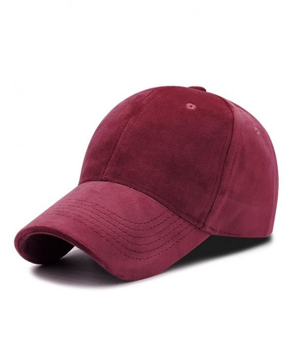 Plain Faux Suede Design Baseball Hat