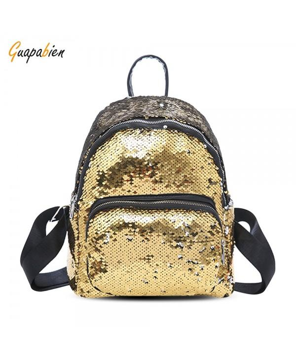Guapabien Fashion Trend Sequins Cute Lady Backpack