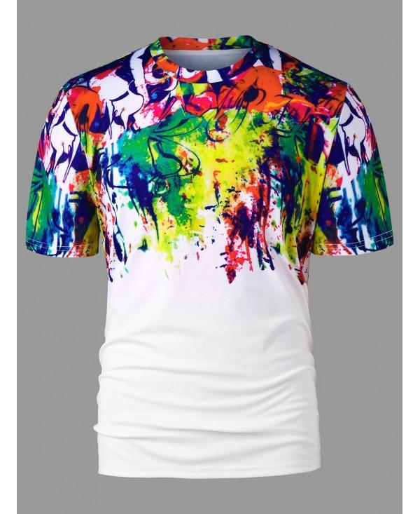 Graffiti Print Short Sleeve T-shirt
