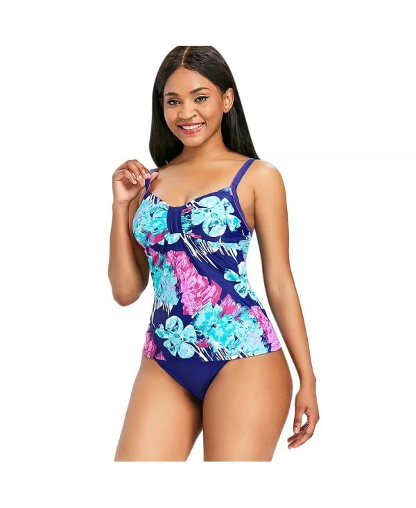 Floral Printed Empire Waist Tankini