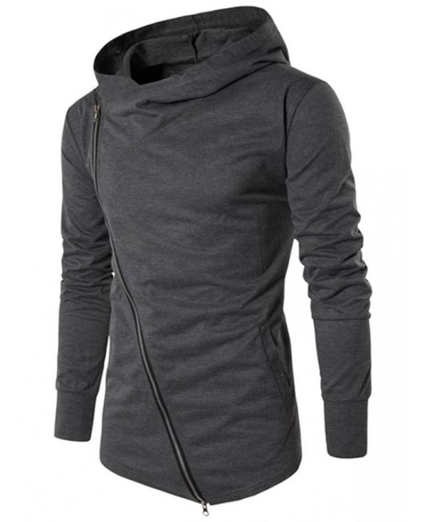 Solid Side Zipper Hooded Thin Jacket