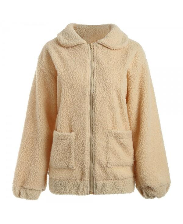Sherpa Fleece Pockets Coat