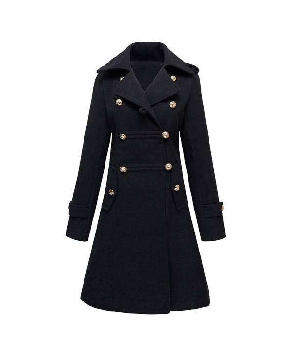 Double Breasted Woolen Long Coat