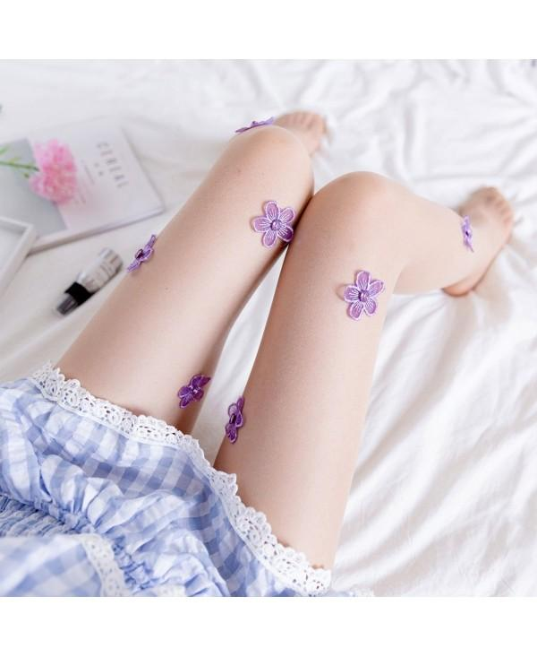 Sexy Silk Stockings Diamond Embroidered Pantyhose
