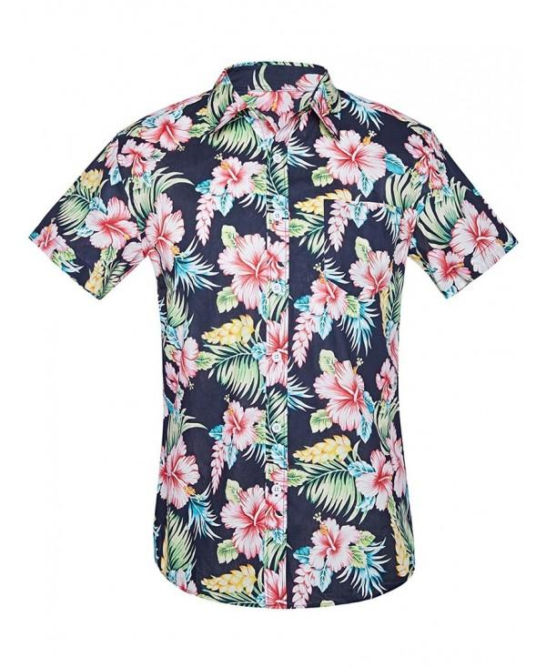 Hawaiian Flower Print Short Sleeve Shirt