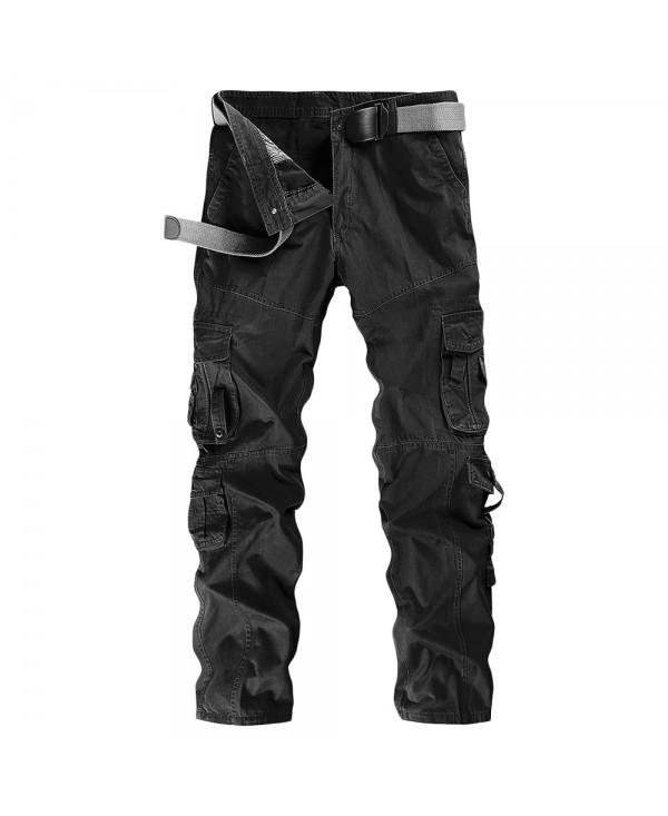 Solid Color Pocket Cargo Pants
