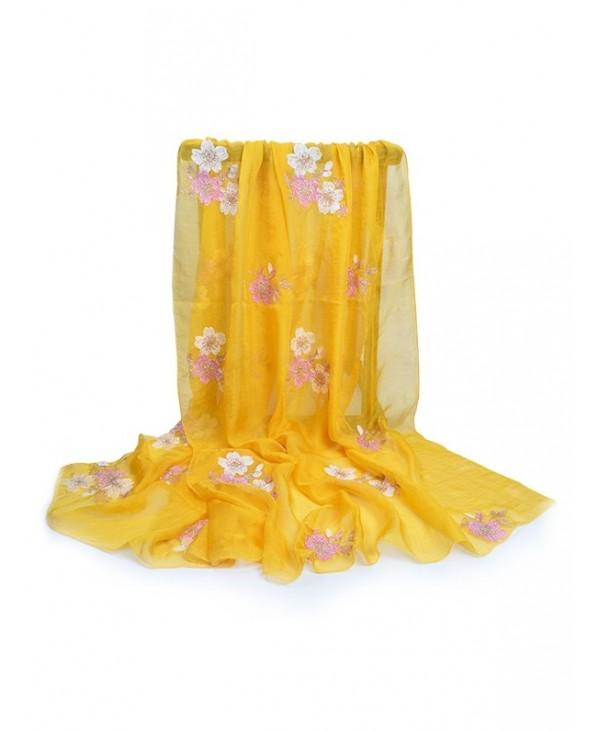 Fresh Floral Decorative Silky Long Scarf