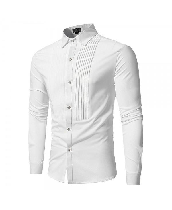 Front Pleated Casual Long Sleeve Shirt