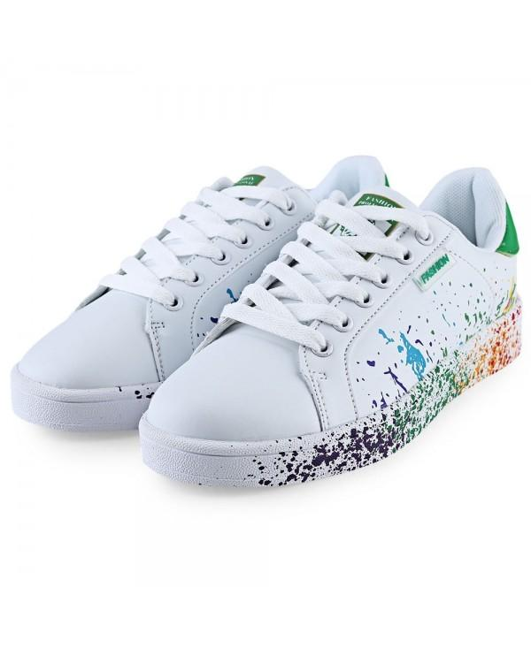 Casual Paint Splashing Decoration Ladies Lace Up Sneaker