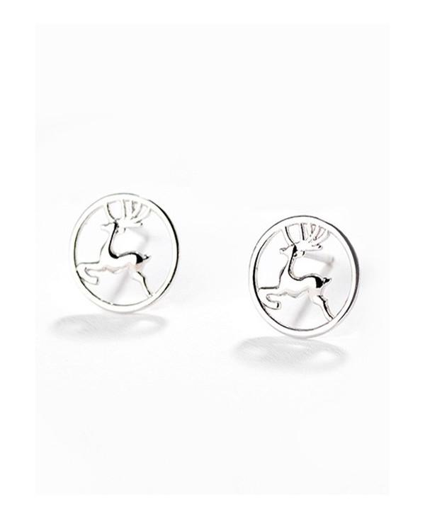 Christmas Deer Pattern Hollow Stud Earrings