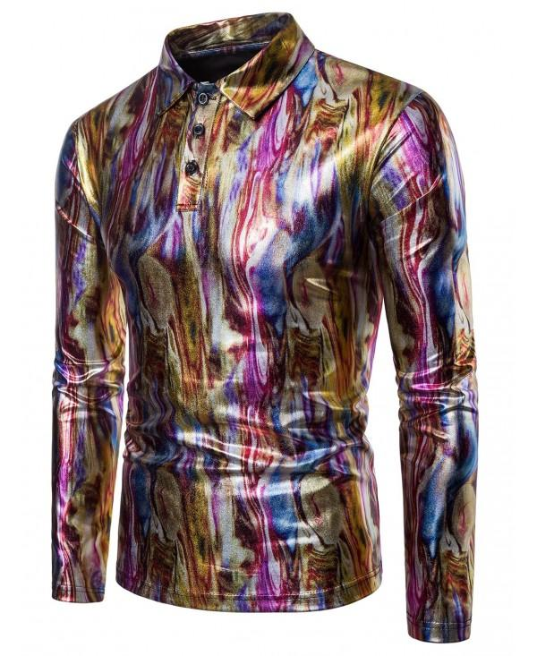 Colorful Metallic Shiny T Shirt