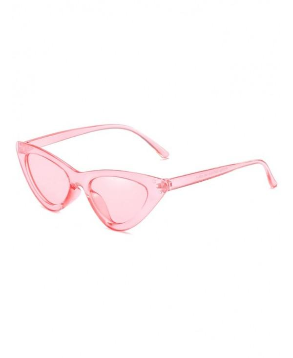 Unique Plastic Frame Flat Lens Catty Sunglasses