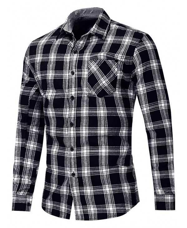 Button Up Checked Long Sleeve Shirt