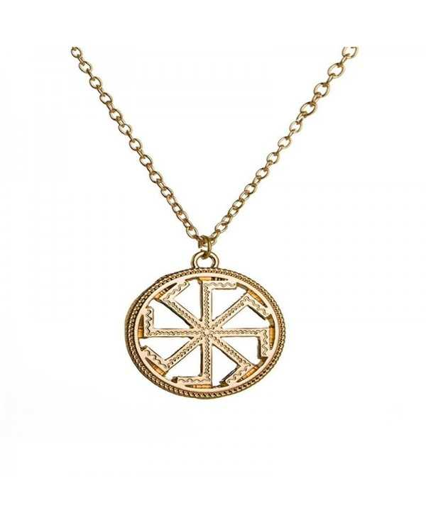 European and American Punk Men's Round Side Alloy Necklace