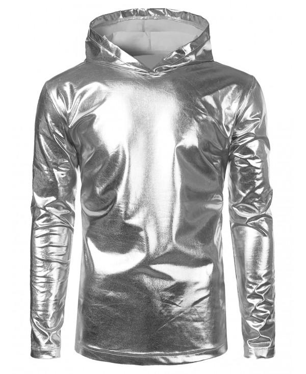 Metallic Color Hooded Tee