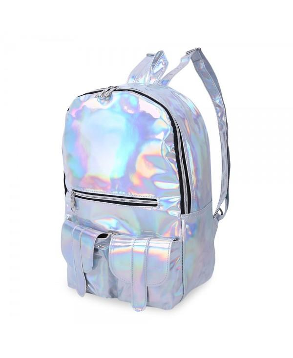 Girl Preppy Style Laser Bag School Travel Shopping Portable Handbag Backpack
