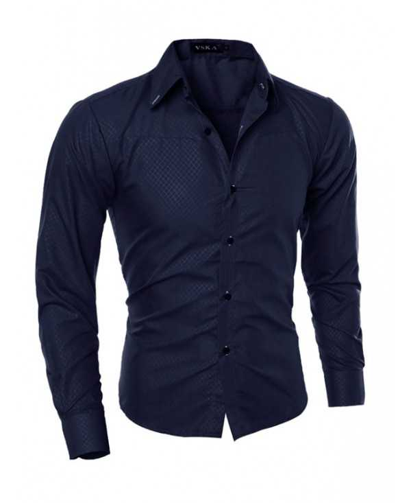 Stylish Slim Print Long Sleeve Shirt for Men