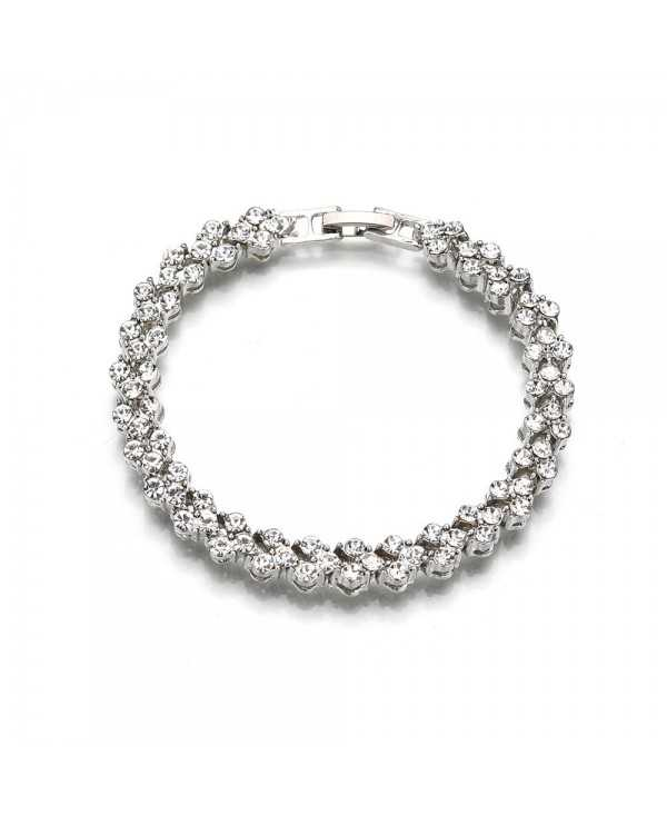 Women Fashion Heart-Shaped Diamond Bracelet