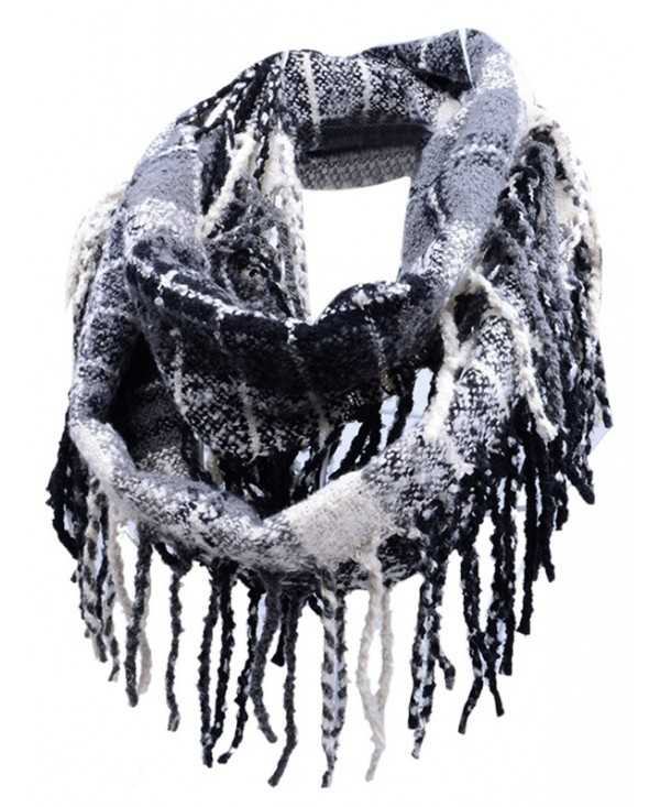 Outdoor Fringed Edge Decorated Faux Cashmere Scarf