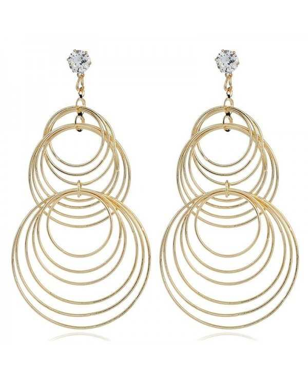 Fashion Creative Women's Geometric Ring Earrings