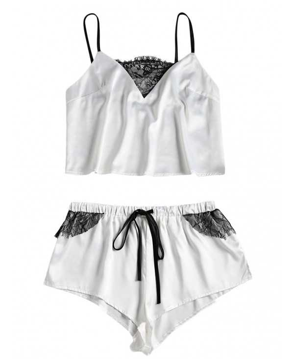 Lace and Satin Sleepwear Set