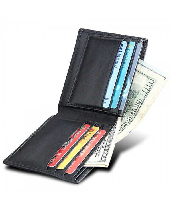 Men Short Genuine Leather Cowhide Wallet Fashion Card Holder Coin Money Male Purse 8008