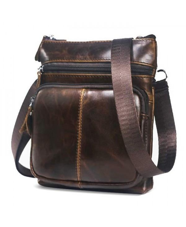 BULLCAPTAIN Vintage Leather Shoulder Bag for Men