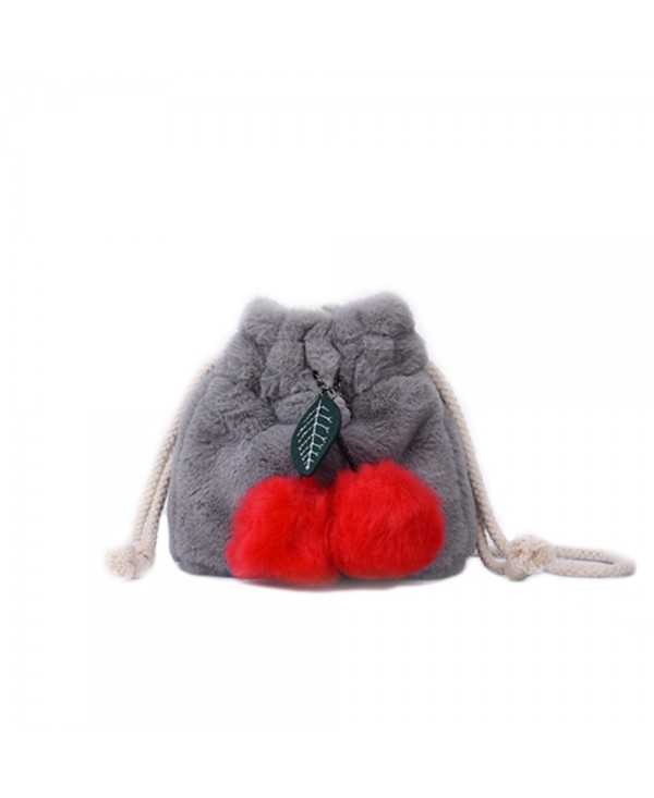 New Bucket Fur Bag Shoulder Diagonal Package
