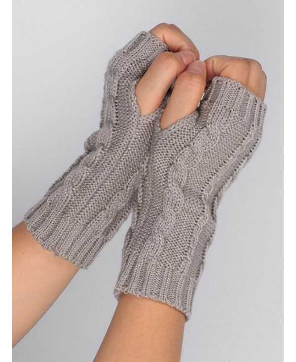 Elegant Solid Color Fingerless Gloves