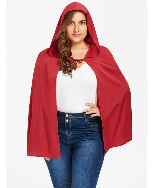 Plus Size Hooded Cape