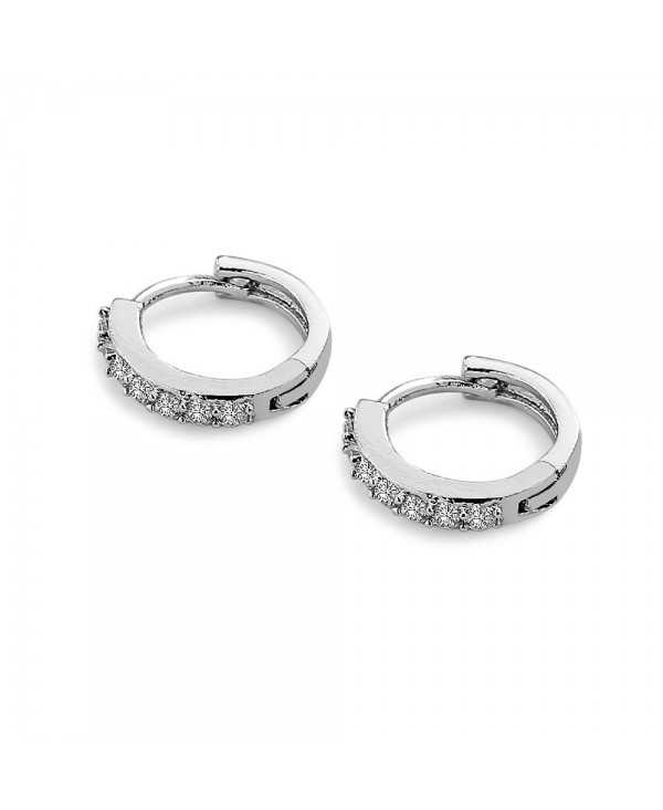 Fashion Superior Crystal Zircon Annular Earrings for Ladies