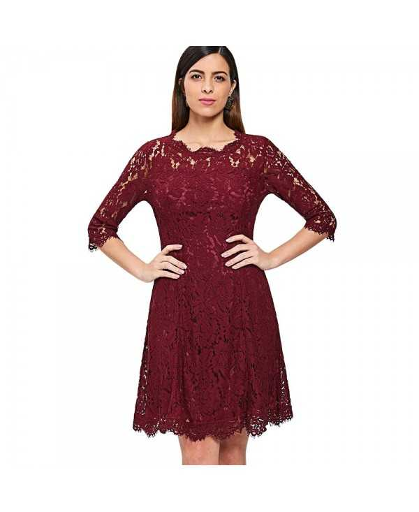 Floral Lace Swing Dress
