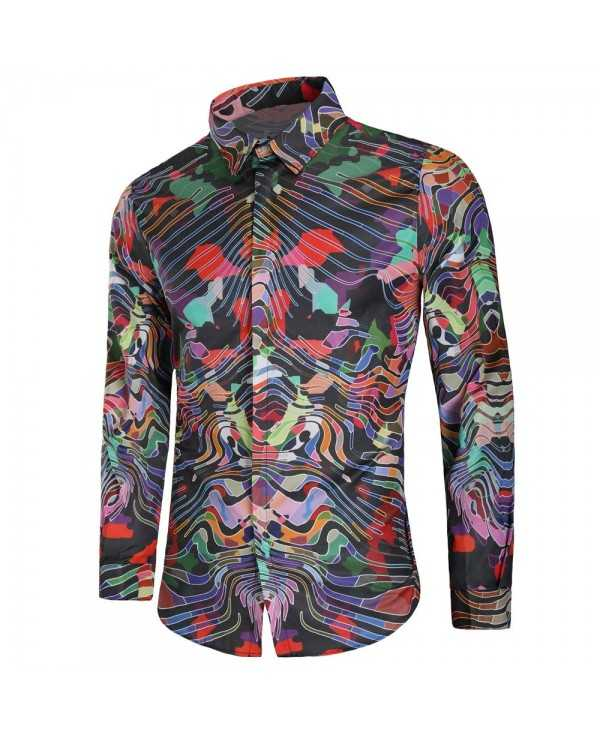 Long Sleeve Graphic Print Shirt
