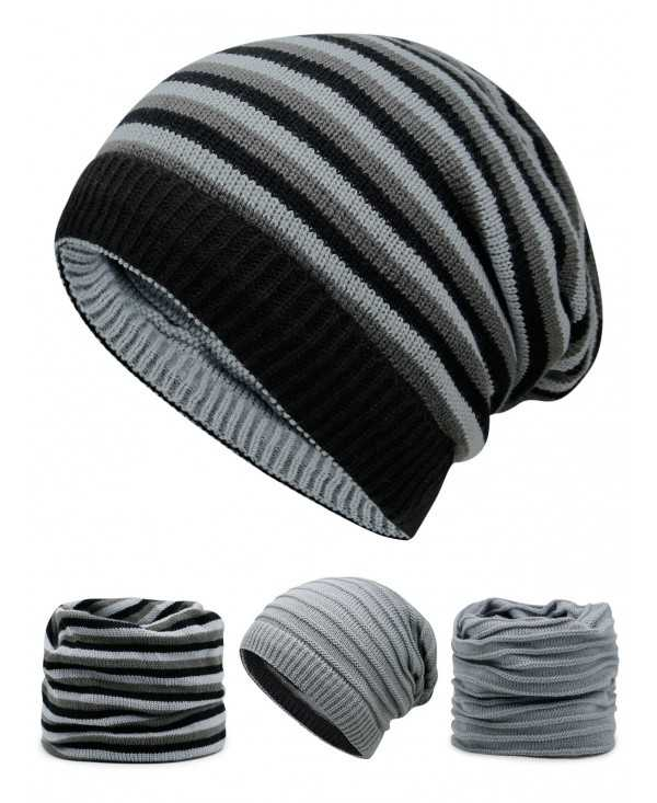 Outdoor Reversible Crochet Knitted Open Top Beanie