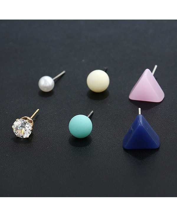 Three Pairs of Triangle Earrings