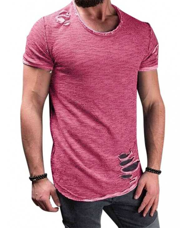 Short Sleeves Casual Ripped T-shirt