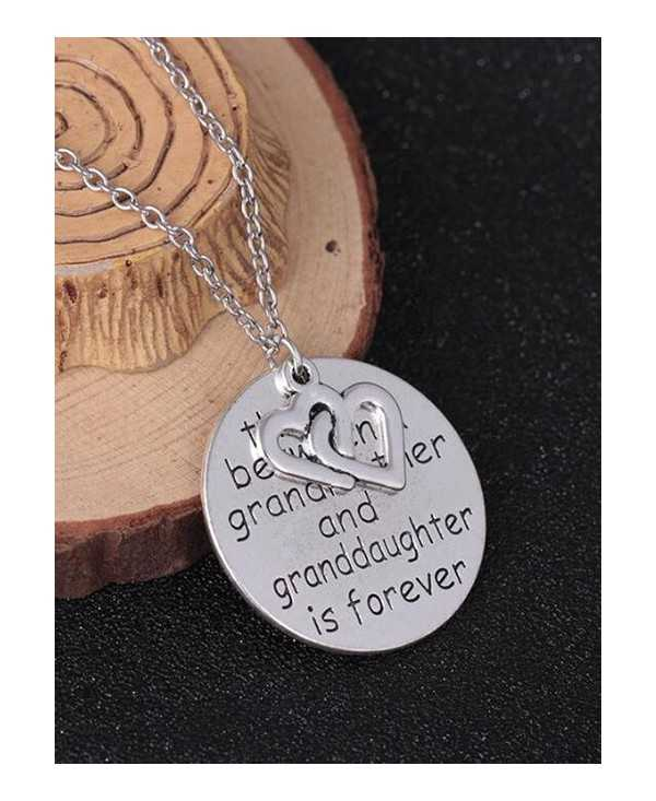 Heart Engraved Family Forever Pendant Necklace