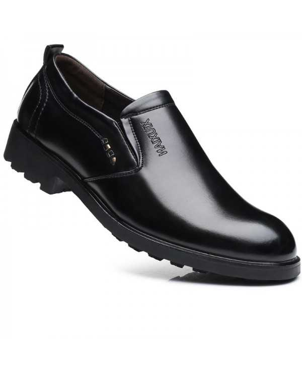 Men New Outdoor Walking Trend for Fashion Leather Business Wedding Black Shoes