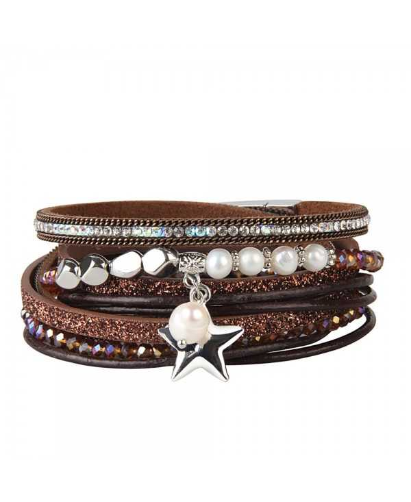Fashion Multi Layer Cortical Pentagram Tassel Bracelet